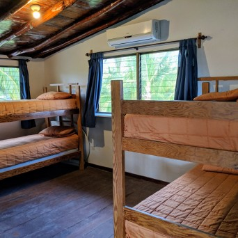 The youth hostel room. Bunks up to six!